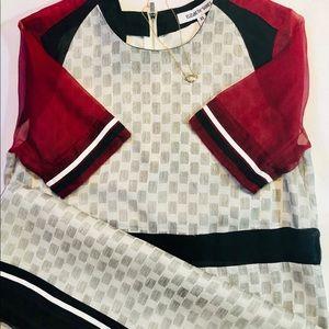 ELIZABETH and JAMES SHEATH DRESS | COLOR BLOCK XS
